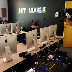 Instructing a DJ class at the Harbourside Institute of Technology